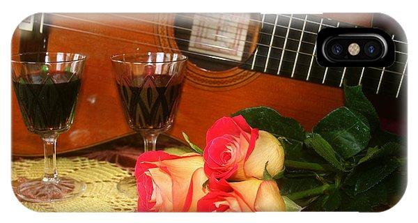 Guitar 'n Roses IPhone Case