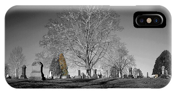 Roseville Cemetary IPhone Case