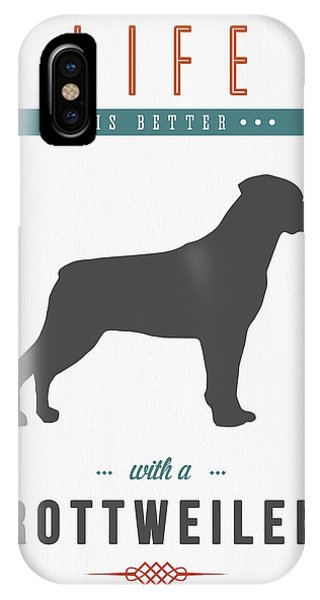 Quote iPhone Case - Rottweiler 01 by Aged Pixel