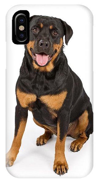 Rottweiler Dog Isolated On White IPhone Case