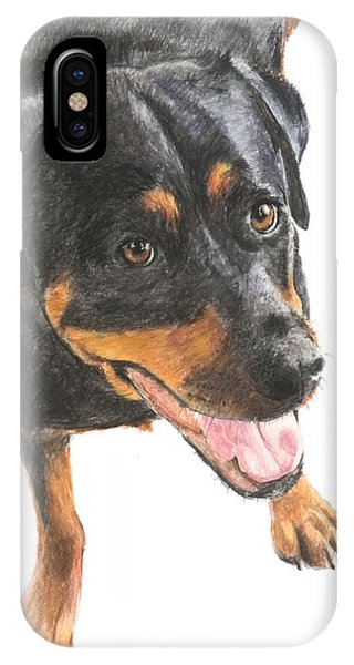 Rottweiler Looking Up IPhone Case