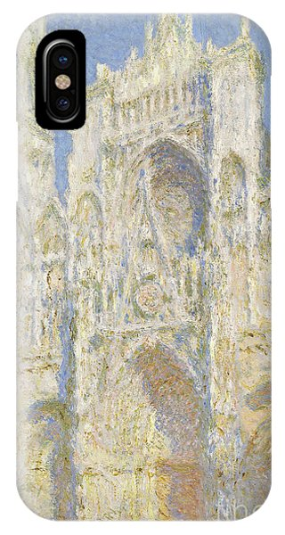 Impressionism iPhone X Case - Rouen Cathedral West Facade by Claude Monet