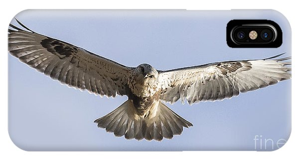 Rough-legged Hawk Coming Right At You Phone Case by Ricky L Jones