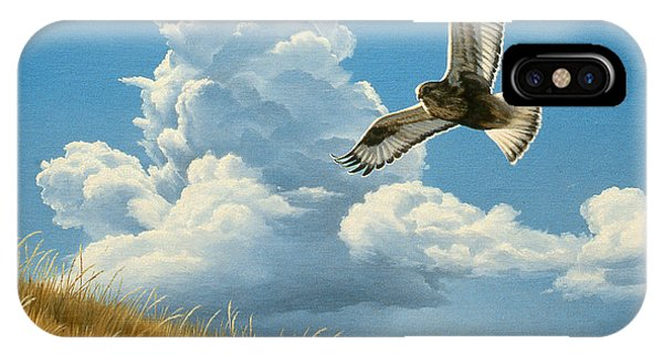 Hawk iPhone Case - Rough-legged Hawk by Paul Krapf