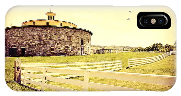 Round Stone Barn IPhone Case
