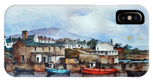 Roundstone Old Harbour Galway IPhone Case