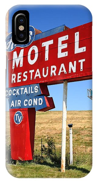 Small Business iPhone Case - Route 66 - Art's Motel by Frank Romeo