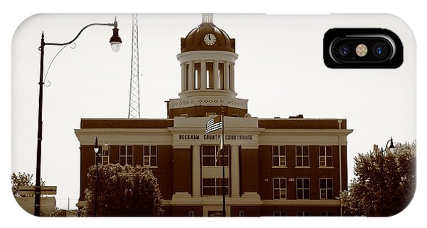 Route 66 - Beckham County Courthouse IPhone Case