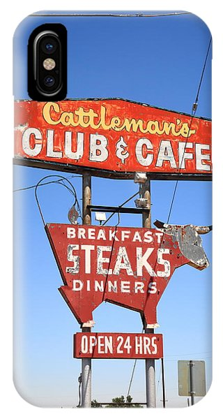 Route 66 - Cattleman's Club And Cafe IPhone Case
