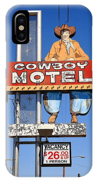 Route 66 - Cowboy Motel IPhone Case