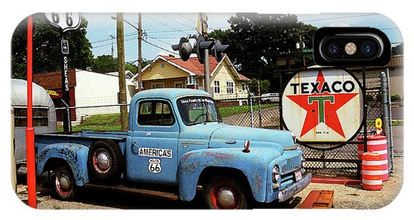 Route 66 - Gas Station With Watercolor Effect IPhone Case