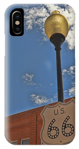 Route 66 Light Post IPhone Case