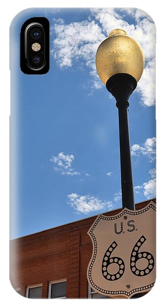 Route 66 Light Post Vivid IPhone Case
