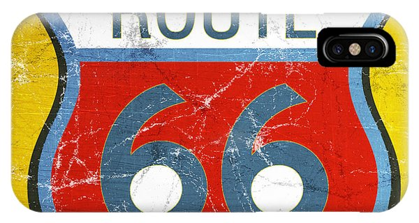 Road Signs iPhone Case - Route 66 by Linda Woods