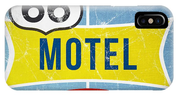 Road Signs iPhone Case - Route 66 Motel by Linda Woods