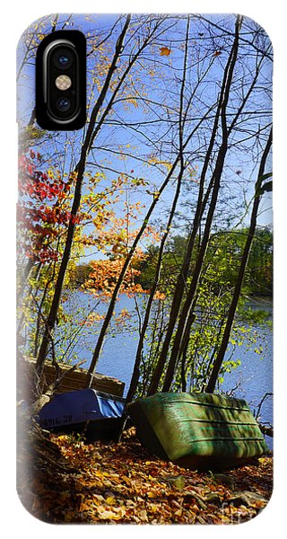 Row Boats Along Croton Reservoir - Ny IPhone Case