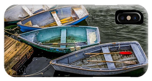 Row Boats At Dock IPhone Case