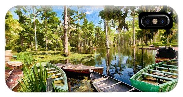 Row Boats In Cypress Tree Swamp II IPhone Case