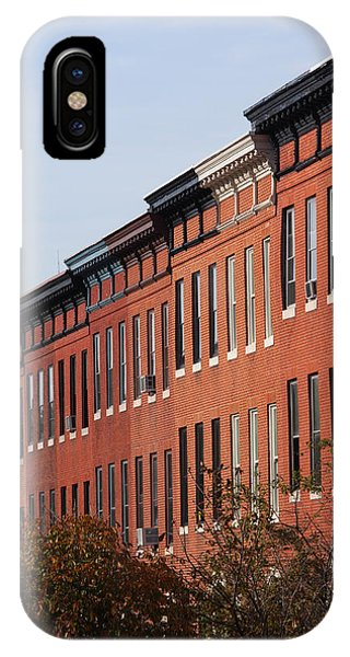Brownstone iPhone Case - Row Houses In A City, Bolton Street by Panoramic Images