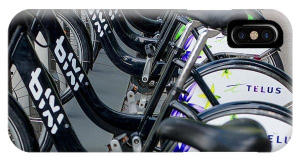 Row Of Bikes IPhone Case