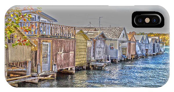 IPhone Case featuring the photograph Row Of Boathouses by William Norton