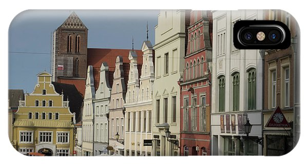 Small Business iPhone Case - Row Of Historical Houses Along Street by Panoramic Images