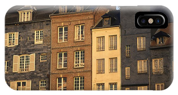 Condo iPhone Case - Row Of Houses. Honfleur Harbour. Calvados. Normandy. France. Europe by Bernard Jaubert
