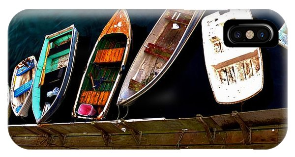Row Of Rowboats  IPhone Case
