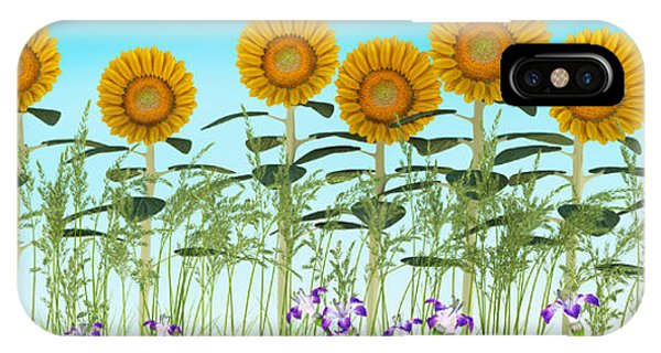 Row Of Sunflowers IPhone Case
