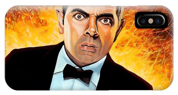 Clock iPhone Case - Rowan Atkinson Alias Johnny English by Paul Meijering
