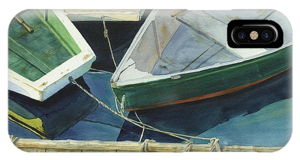 Nautical iPhone Case - Rowboat Trinity II by Marguerite Chadwick-Juner
