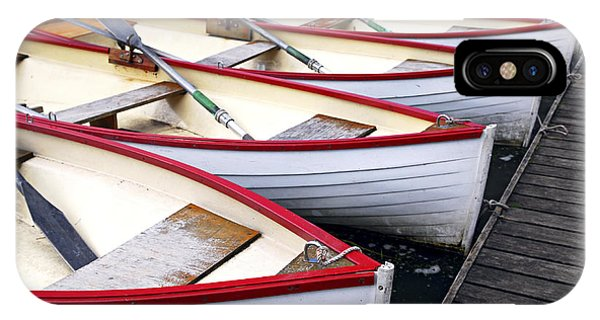 Docked Boats iPhone Case - Rowboats by Elena Elisseeva
