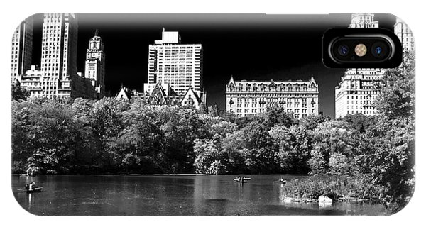 Rowing In Central Park IPhone Case