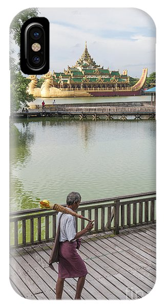 Royal Barge In Yangon Myanmar  IPhone Case