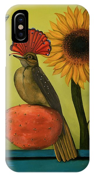 Flycatcher iPhone Case - Royal Flycatcher  by Leah Saulnier The Painting Maniac