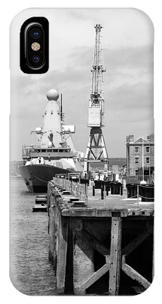 Royal Navy Docks And Hms Defender IPhone Case