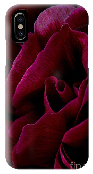 Royal Red Peony IPhone Case