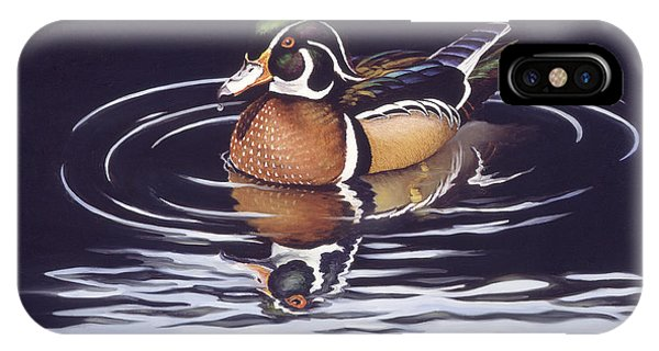 Wood Ducks iPhone Case - Royal Reflections by Richard De Wolfe