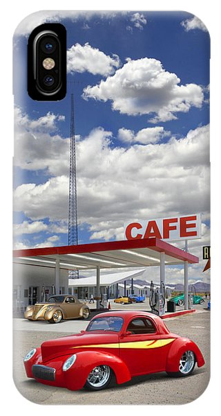 Gas Station iPhone Case - Roy's Gas Station - Route 66 by Mike McGlothlen