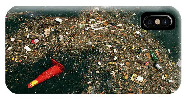 Rubbish Floating On A River Phone Case by Tony Craddock/science Photo Library