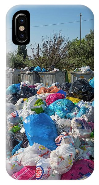 Rubbish Bin iPhone Case - Rubbish Overflow by David Parker/science Photo Library