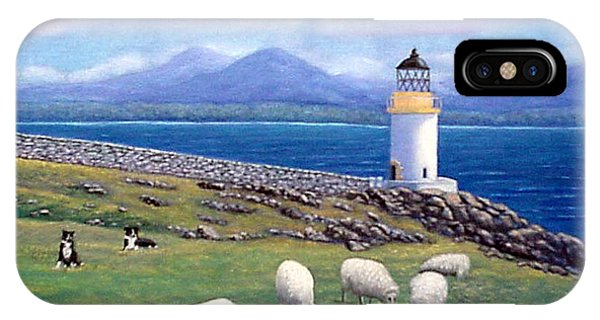 Rubh An Duin Lighthouse Scotland IPhone Case