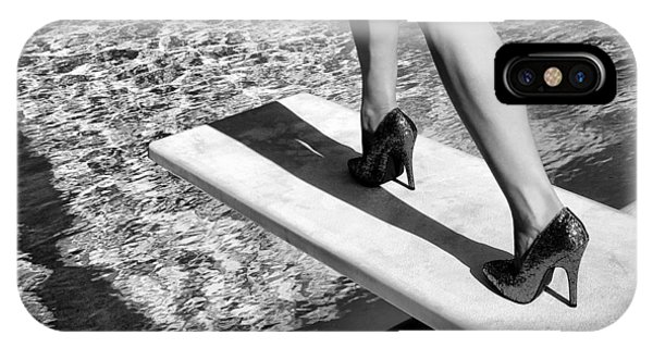 Old Fashioned iPhone Case - Ruby Heels Bw Palm Springs by William Dey