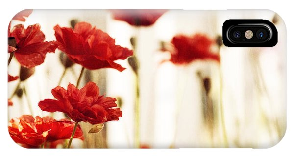 Blossoms iPhone Case - Ruby Reds by Priska Wettstein