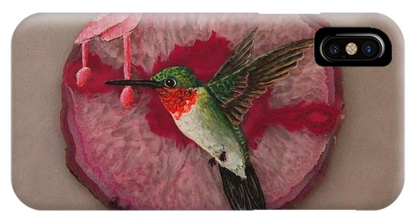 Ruby Throated Hummer IPhone Case