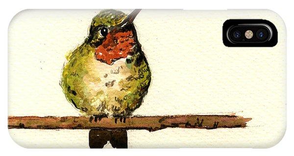 Hummingbird iPhone Case - Ruby Throated Hummingbird  by Juan  Bosco