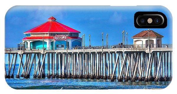 Ruby's Surf City Diner - Huntington Beach Pier IPhone Case