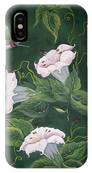 Hummingbird And Lilies IPhone Case