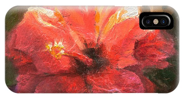 Ruffled Light Double Hibiscus Flower IPhone Case