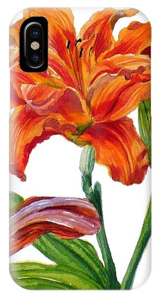 Ruffled Orange Daylily - Hemerocallis IPhone Case